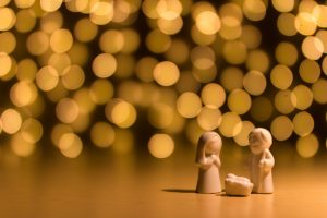 holiday scene of the manger