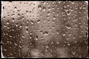 Raindrops on Window can remind us of suffering