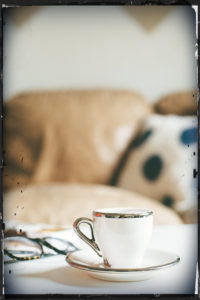 Coffee Cup and Glasses - inviting rest