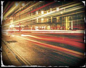 blur on street