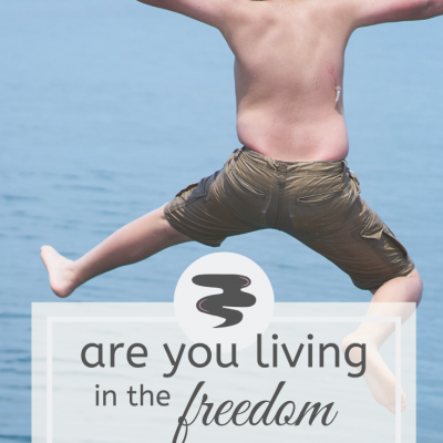 Are you living in the freedom of God's grace?