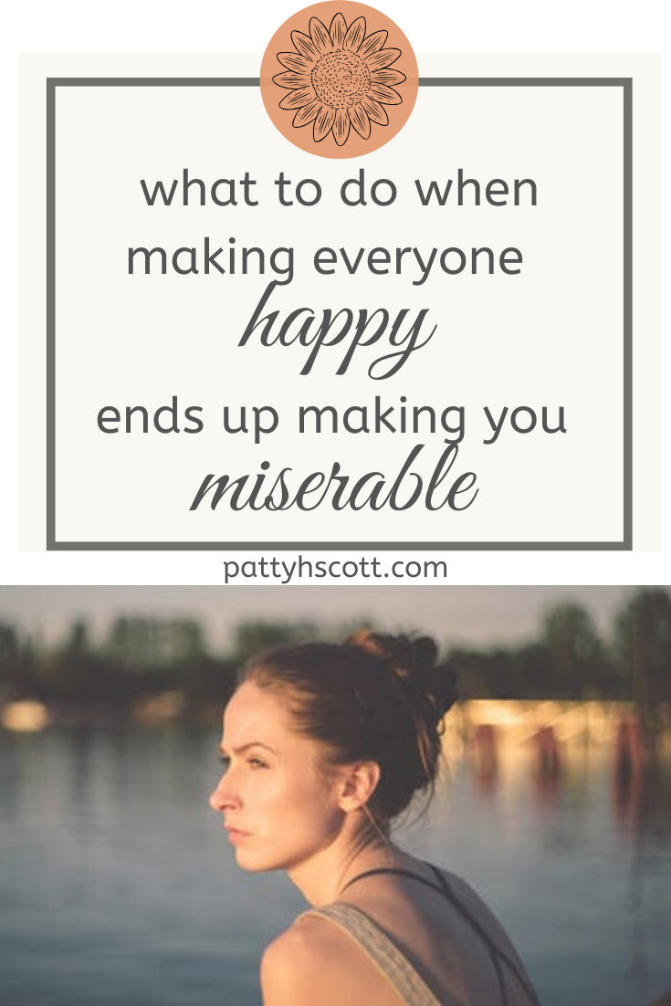 people pleasing can make us miserable, but there is hope! ... photo courtesy of pexels